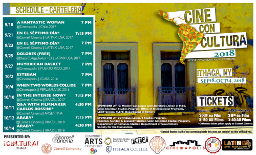 CULTURA Ithaca presents 5th Annual Film Fest