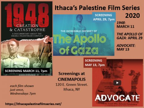 LOCAL PALESTINE GROUP PRESENTS NEW SCREENINGS